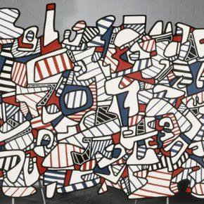 Jean Dubuffet, Site agité, 1973; Painting, 241x372x3.2cm