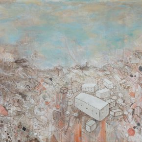 Li Jikai, Great Landscape, 2016 ; Acrylic on canvas,  200×300cm