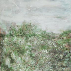 Li Jikai, Green Grass, 2016; Acrylic on canvas, 300×200cm