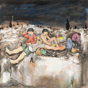 Li Jikai, Junkmen, 2014; Acrylic on canvas, 200×200cm