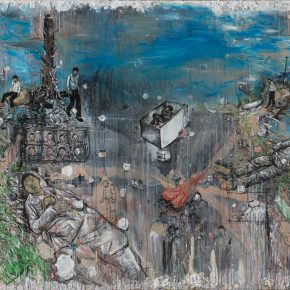 Li Jikai, Road, 2015; Acrylic on canvas, 200×300cm