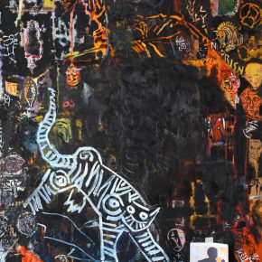 "Sheng Tianhong White Tiger 2016 Mixed Media on Canvas 183.5x141cm 290x290 - Aye Gallery presents  ""I Love Modernism – Sheng Tianhong New Works"" in Beijing"