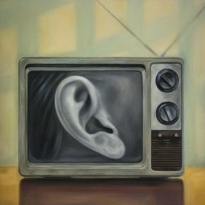 Xu Mo A Ear on the Screen 2014 Oil on canvas 60x60cm 290x290 - Between Art Lab announces Xu Mo's solo exhibition opening June 16