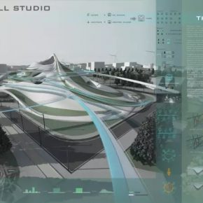 03 Lu Zhuojian, Marginal City Competition, rendering of the design, 2013