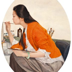10 Zhang Chao Studio Girl 2014 Oil on canvas 70cmx90cm 290x290 - CAFA Graduation Season丨Case Observation of Oil Painting: Zhang Chao – To Paint a Portrait, That is Profound and Vivid