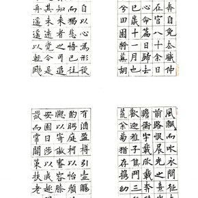 14 Chen Jiahao Calligraphy of Tao Yuanming's Declaration of Getting Away from Officialdom Returning to Countryside detail 1 290x290 - CAFA Graduation Season丨Chen Jiahao & Cao Kuo – You Draw Realistic Painting While I Write Chinese Calligraphy