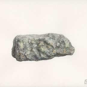 18 Cao Kuo A Stone watercolor on paper 23 x 31 cm 2015 290x290 - CAFA Graduation Season丨Chen Jiahao & Cao Kuo – You Draw Realistic Painting While I Write Chinese Calligraphy
