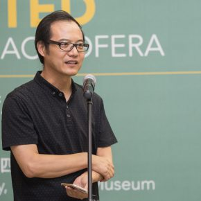 "01 Curator Wang Chunchen addressed the opening ceremony 290x290 - Instead of Seeing with ""Eyes"", Reading with Minds: ""Michaele Ciacciofera: Enchanted Nature, Revisited"" Exhibiting at CAFAM"