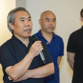 """01 Wang Shaojun CAFA's Deputy Party Secretary delivered his speech. 290x290 - Extending and Complementing Graduation Season:   """"Echo"""" Exhibition of Excellent Works from CAFA Visiting Scholar Class of 2015"""