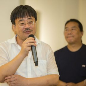 """02 Bi Jianxun Dean of CAFA's College of Continuing Studies delivered his speech. 290x290 - Extending and Complementing Graduation Season:   """"Echo"""" Exhibition of Excellent Works from CAFA Visiting Scholar Class of 2015"""