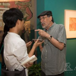02 Guang Jun was interviewed by CAFA ART INFO (photo by Yang Yanyuan)