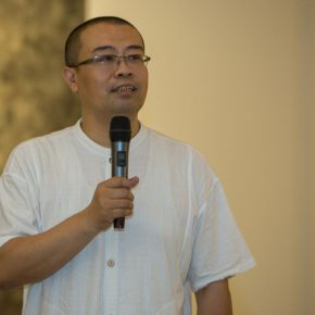 """05 Wu Shoufeng the Vice Dean of CAFA's College of Continuing Studies presided over the opening ceremony. 290x290 - Extending and Complementing Graduation Season:   """"Echo"""" Exhibition of Excellent Works from CAFA Visiting Scholar Class of 2015"""