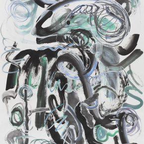 06 Wu Jian'an 500 Strokes IV. Watercolor collage on paper. 121.5 x 182.5cm. 2016 290x290 - Wu Jian'an
