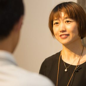 """07 Liu Yulan the exhibition's Chief Planner was interviewed by CAFA Art Info. 290x290 - Extending and Complementing Graduation Season:   """"Echo"""" Exhibition of Excellent Works from CAFA Visiting Scholar Class of 2015"""