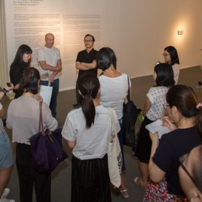 "08 Aritst Michaele Ciacciofera and curator Wang Chunchen introduced the exhibition to journalists 290x290 - Instead of Seeing with ""Eyes"", Reading with Minds: ""Michaele Ciacciofera: Enchanted Nature, Revisited"" Exhibiting at CAFAM"