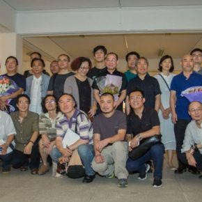 """09 Group photo of visiting scholars and their supervisors 290x290 - Extending and Complementing Graduation Season:   """"Echo"""" Exhibition of Excellent Works from CAFA Visiting Scholar Class of 2015"""