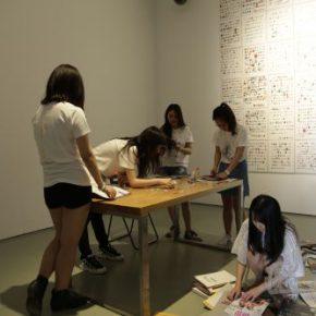10 Art Education Group, NOVEL, collage, performance, 40 x 60 cm, 2012-2013