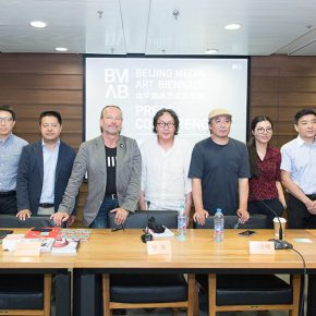 "11 Group photo of honored guests at the press conference 290x290 - Themed on ""Ethics of Technology"" the ""Beijing Media Art Biennale 2016"" is opening in September"