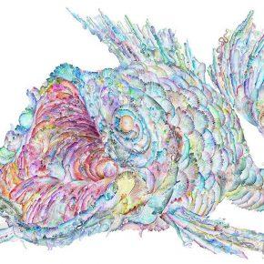 16 Wu Jian'an, The Fish Pattern I. (Design drawing)