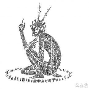 21 Wu Jian'an Seven Layered Shell Monkey King. Design drawing 290x290 - Wu Jian'an