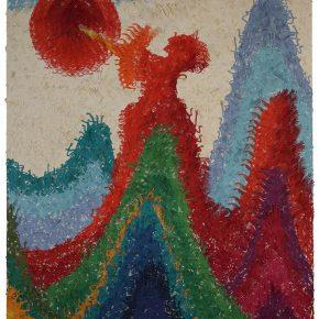 22 Wu Jian'an Mountain Ranges Shooting Down the Sun. Laser cutting of colored paper and hand sewing on paper. 260 x 185cm. 2011. 290x290 - Wu Jian'an