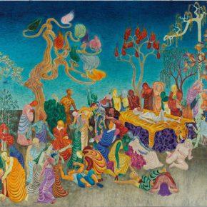 31 Wu Jian'an Transformation. Colored wax on wood board. 250 x 180cm. 2014 290x290 - Wu Jian'an