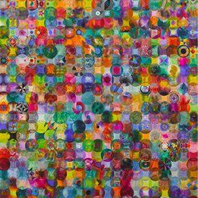 34 Wu Jian'an 792 Overlapped Colored Balls. Watercolor on paper. 150 x 250cm. 2014 290x290 - Wu Jian'an