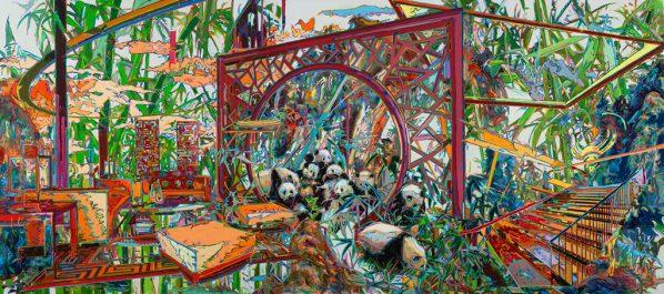 "You Jin, The Ninth ""Buddy"", 2016; Oil on canvas, 200 x 150cmx3pcs"