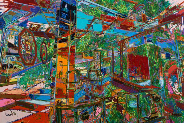 You Jin, What Is Persistent and hidden, 2015; Oil on canvas, 300x200cm