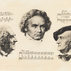 """Memorial Exhibition of Franz Liszt Opened at the Art Museum of Beijing Fine Art Academy to Backtrack """"King of Piano"""""""