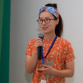 """01 Representative of the artists Pan Zishen delivered a speech 290x290 - """"The Liver"""": What is the Liver of the Artist?"""
