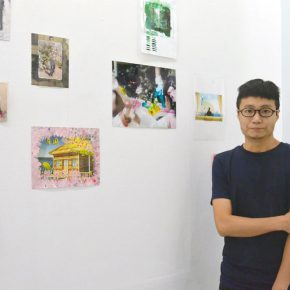 """03 Artist Xu Hongxiang and his works 290x290 - """"Decathlon"""" the Exhibition Curated by an Absent Curator Opened at Rightview Art Museum"""