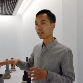 """04 Artist Zheng Jiang was interviewed  290x290 - """"Decathlon"""" the Exhibition Curated by an Absent Curator Opened at Rightview Art Museum"""