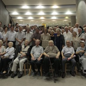 "12 The Group Photo of Honored Guests attended the ceremony 290x290 - Draw the Paintings that People Can Read ""Incised Traces: An Exhibition in Honor of Wu Biduan's Ninetieth Birthday"""