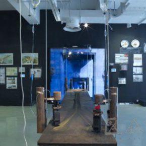 14 Qiu Zhijie, A Suicidology of the Nanjing Yangtze River Bridge (1) Metempsychosis of the smoke, 90 x 400 x 60 cm, 2008