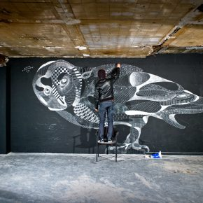16 Graffiti with chalk by artist Baudelocque 290x290 - Observing Street Art from a Global Perspective: Interview with Magda Danysz and Artists