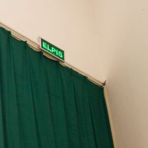 """16 The symbol """"ELPIS"""" above the green curtain 290x290 - """"The Liver"""": What is the Liver of the Artist?"""
