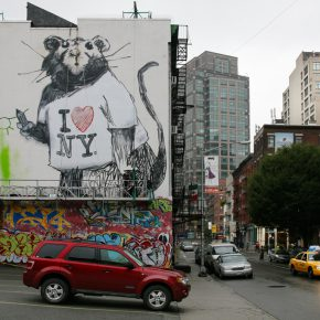 20 BANKSY Wall Therapy Rochester New York Artists Dal East Photo © Ian Cox 2016 290x290 - Observing Street Art from a Global Perspective: Interview with Magda Danysz and Artists