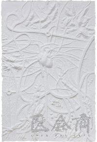 37 Qiu Zhijie, Heart Overpass, Dragon Vein Series, paper relief, 180 x 120 cm, 2014