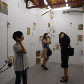 """Exhibition View of""""God's voice human's words""""01 290x290 - Egami Etsu's Solo Show Entitled """"God's voice, human's words?"""" Exhibited at DEHAIRI projects"""
