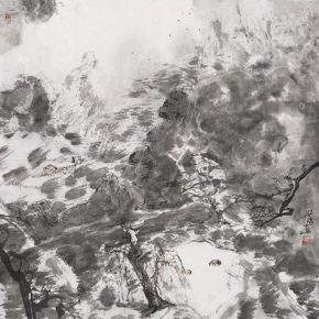 """Hong Ling Silent Sky 2016 Ink on paper 68x70cm 290x290 - Soka Art Beijing announces """"Literati Painting from Six Artists"""" to celebrate its 15th anniversary"""