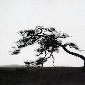 """Wen Fengxuan Wind and Frost 2005 Ink on paper 46x70cm 290x290 - Soka Art Beijing announces """"Literati Painting from Six Artists"""" to celebrate its 15th anniversary"""