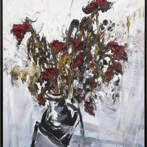 zhou-shilin-chair-and-dried-flowers-oil-on-canvas-188x168cm