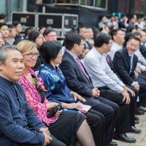 "01 Deputy Party Secretary of CAFA Wang Shaojun attended the opening ceremony of the art week 290x290 - Reproduced Yesterday of ""Dunhuang"": The Creative Context as a Fusion"