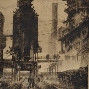 "02 Chen Xiaonan The Morning of Steel monochrome etching 31 x 25 cm 1958 1960 in the collection of CAFA Art Museum  290x290 - ""From Woodcut to Printmaking"" CAFA Art Museum Fifth Round of the Collection Series is unveiled"
