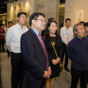 "03 Leaders of CAFA together with the honored guests visiting the exhibition  290x290 - Reproduced Yesterday of ""Dunhuang"": The Creative Context as a Fusion"