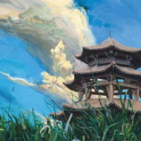 "04 Yu Hong Garden of Dreams details acrylic on canvas 500 x 920 cm 2015 290x290 - Yu Hong: Visiting a Garden, Walking from a Dream with a Start – The Realistic Painting that Transcends the ""Real"""