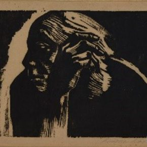 "06 Kaethe Kollwitz Self Portrait monochrome woodblock print 24 x 33 cm 1954 the prints donated by the foreign artists and the works by overseas students in the 1950s collected by CAFA Art Museum  290x290 - ""From Woodcut to Printmaking"" CAFA Art Museum Fifth Round of the Collection Series is unveiled"