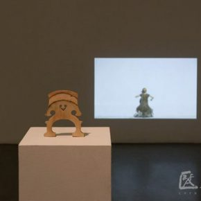 07-tong-yixin-cello-plywood-plinth-seamlessly-looped-video-projection-fir-2011