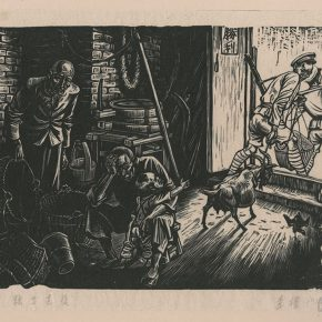 "10 Li Hua After Conscription and Imposed Grain Levies monochrome woodblock print 36.5 x 28 cm 1946 collected by CAFA Art Museum  290x290 - ""From Woodcut to Printmaking"" CAFA Art Museum Fifth Round of the Collection Series is unveiled"